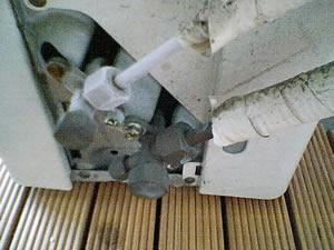 室外機接続部の霜付き