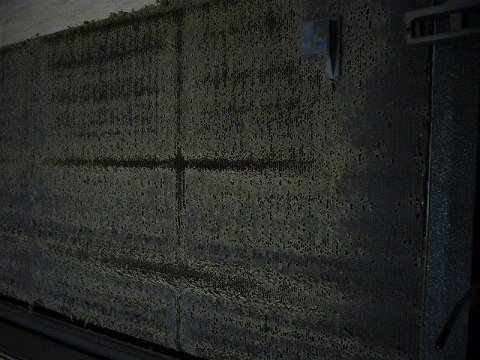 室内機熱交換器の目詰まり