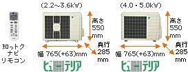 ダイキンエアコンPシリーズ室外機とリモコン