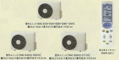 日立エアコンEシリーズ室外機とリモコン