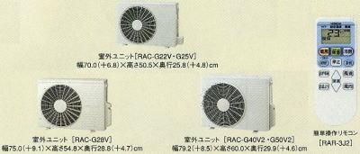日立エアコンRAS-G28V室外機とリモコン
