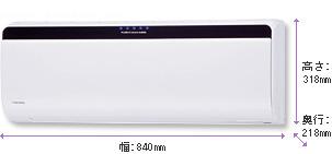 2007年東芝エアコンのSDRシリーズ室内機
