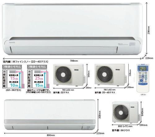 三菱重工エアコンTLシリーズ室外機とリモコン