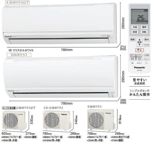 パナソニックFシリーズ室外機とリモコン