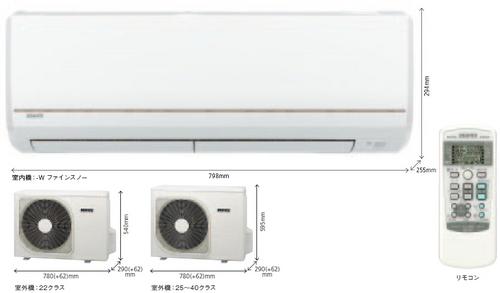 三菱重工エアコンRMシリーズ室外機とリモコン