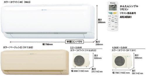 ダイキンCXシリーズ室外機とリモコン