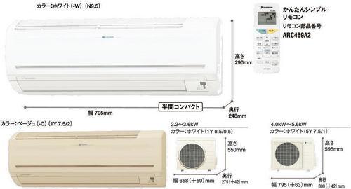 ダイキンPシリーズ室外機とリモコン