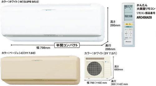 ダイキンRXシリーズ室外機とリモコン