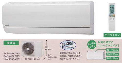 東芝DRNシリーズ室外機とリモコン