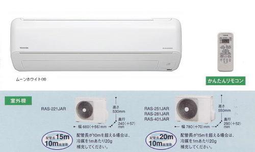 東芝JRシリーズ室外機とリモコン