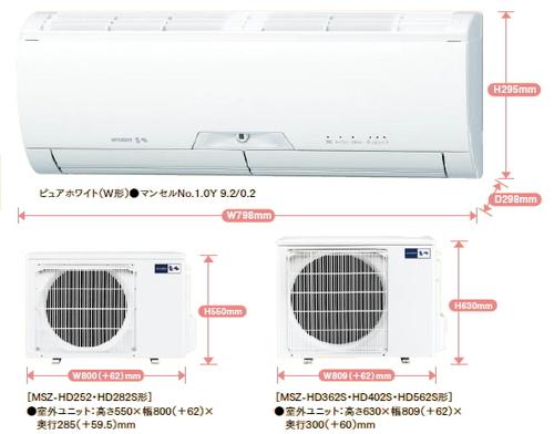 三菱HDシリーズ室外機とリモコン