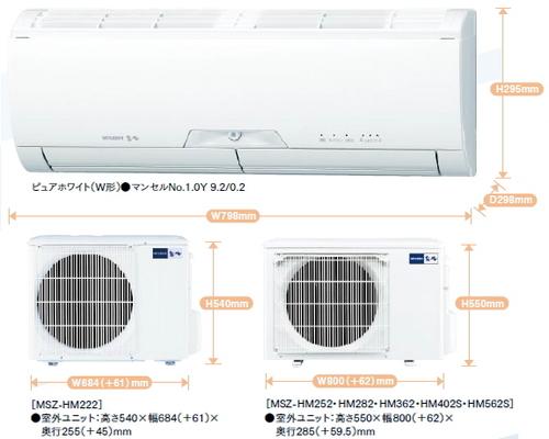 三菱HMシリーズ室外機とリモコン