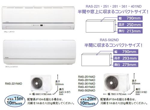 東芝NDシリーズ室外機とリモコン