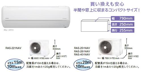 東芝NVシリーズ室外機とリモコン
