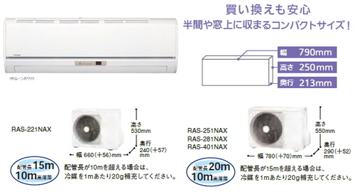 東芝NXシリーズ室外機とリモコン
