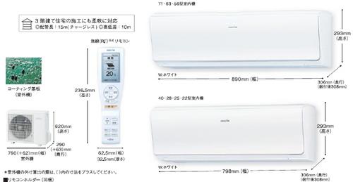 富士通ノクリアZシリーズ室外機とリモコン