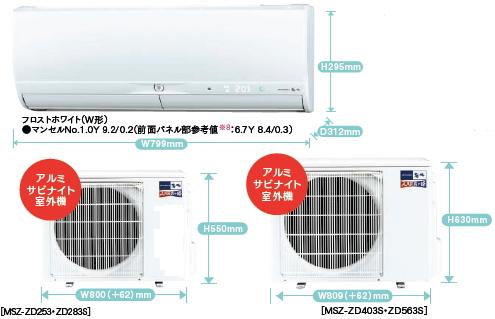 三菱ZDシリーズ室外機とリモコン