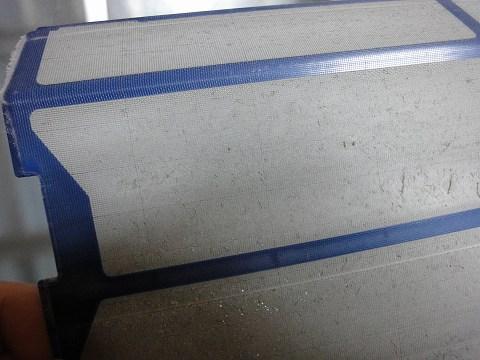 お掃除エアコンフィルターの汚れ