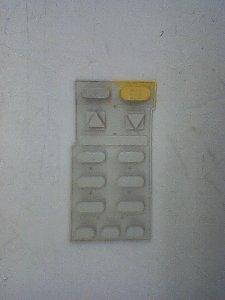 リモコンのボタン表側です