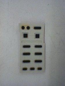 リモコンのボタン裏側です