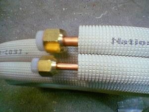 配管パイプの接続部分